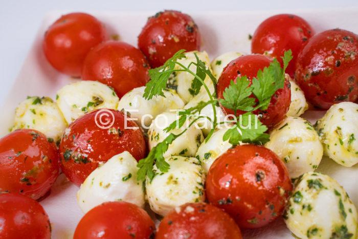 bille de tomates mozzarella