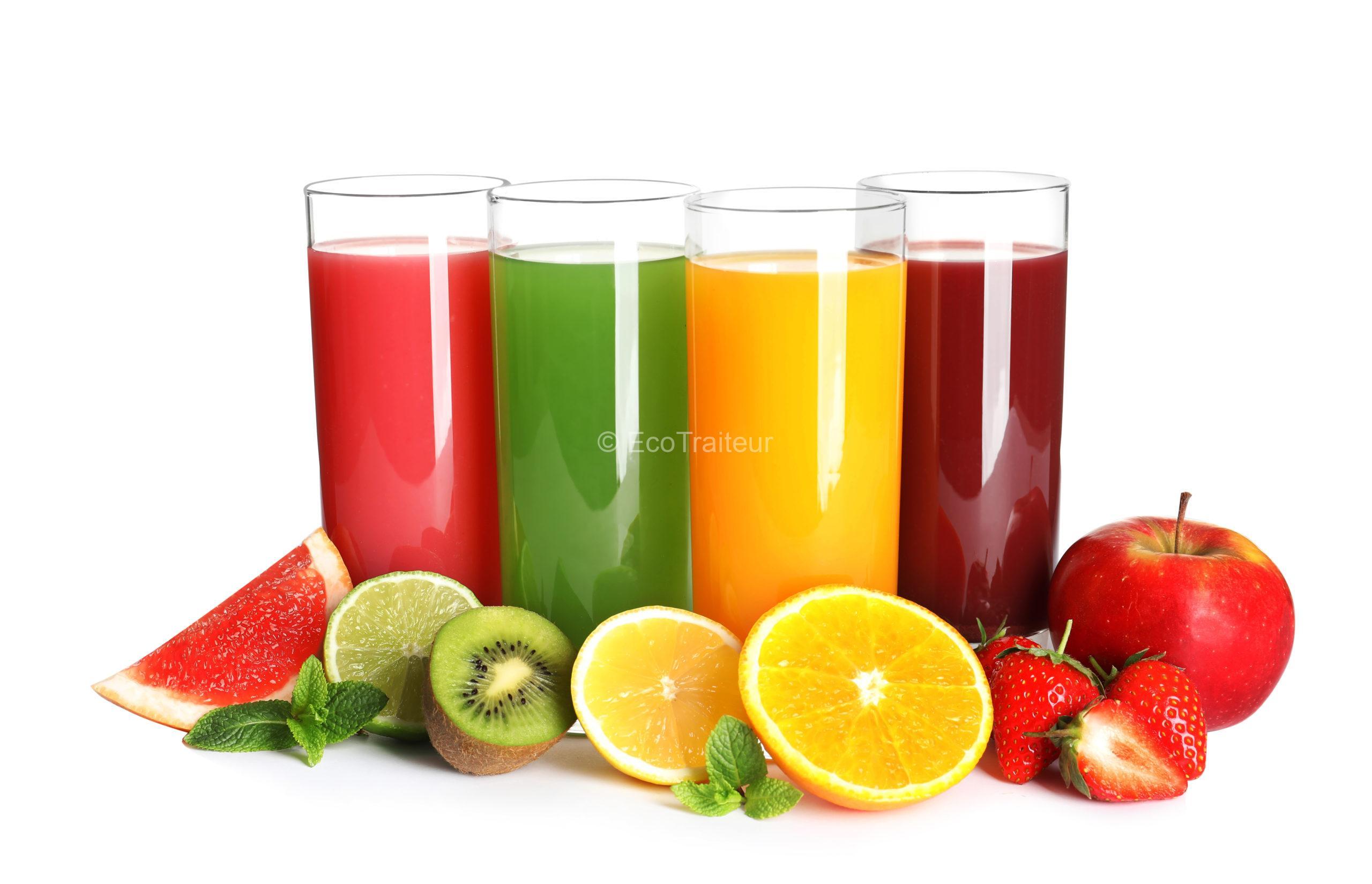 Jus de fruit eco traiteur paris ultra frais pressé minute