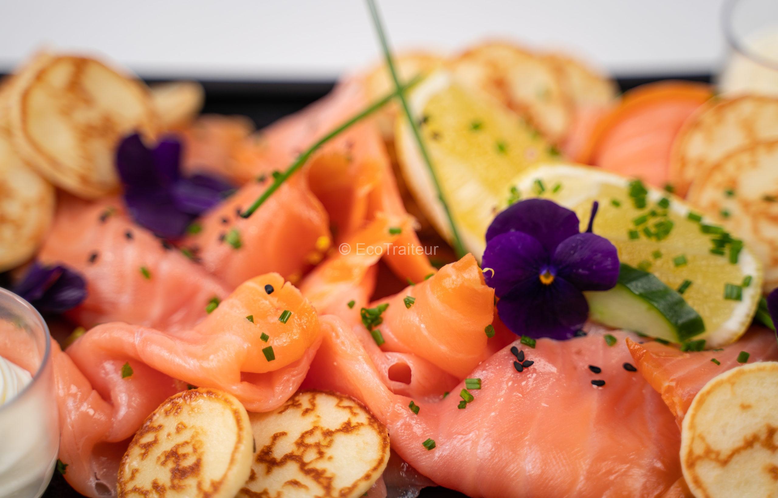 plateau de saumon ecotraiteur fumé traiteur paris buffet froid chic