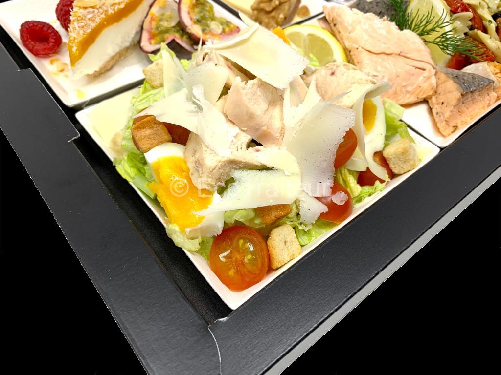 plateaux repas meeting entrée salade ceasar cesar ecotraiteur